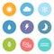 Stock Image : Flat style weather icons