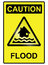 Stock Image : Flood hazard Sign
