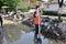 Stock Image : Flooded city from Bosnia and Herzegovina. Maglaj city.