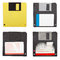 Stock Image : Floppy discs isolated set
