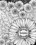 Stock Image : Floral invitation