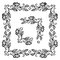 Stock Image : Floral ornament frame