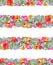 Stock Image : Floral Stripe Print