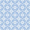 Stock Image : Floral white lacy seamless pattern on blue