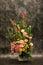 Stock Image : Florists, pink rosr in vase.