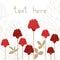 Stock Image : Flower card