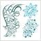 Stock Image : Flower design for tattoo. Vector illustration.