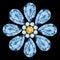 Stock Image : Flower gemstone composition