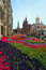Stock Image : Flower landscaping on Nikolskaya Street in historic center of Mo