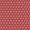 Stock Image : Flower Line Seamless Pattern - Red and White Colors