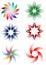 Stock Image : Flowers design set