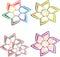 Stock Image : Flowers logos