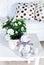Stock Image : Flowers in modern living room