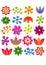 Stock Image : Flowers  set