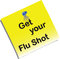 Stock Image : Flu shot memo