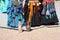 Stock Image : Folk dancer dress
