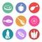 Stock Image : Food icon set