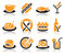 Stock Image : Food icons