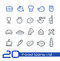 Stock Image : Food Icons - Set 1 of 2 // Line Series