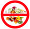 Stock Image : Food prohibited for import into the country.
