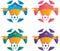 Stock Image : Football emblems