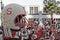 Stock Image : Football Helmet in Rose Bowl Parade