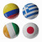 Stock Image : Football WorldCup 2014. Group C. Football/soccer balls.