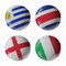 Stock Image : Football WorldCup 2014. Group D. Football/soccer balls.