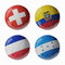 Stock Image : Football WorldCup 2014. Group E. Football/soccer balls.