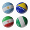 Stock Image : Football WorldCup 2014. Group F. Football/soccer balls.