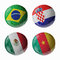 Stock Image : Football WorldCup 2014. Group A. Football/soccer balls.