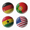 Stock Image : Football WorldCup 2014. Group G. Football/soccer balls.