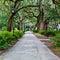 Stock Image : Forsyth Park in Savannah, GA