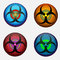 Stock Image : Four Biohazard Icons