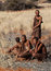 Stock Image : Four bushmen