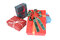 Stock Image : Four colorful gift boxes.