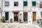 Stock Image : Four entrance doors in Lisbon