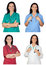 Stock Image : Four images of a pretty woman doctor