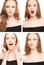 Stock Image : Four images of a young woman in photo booth