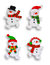 Stock Image : Four Snowmen Over White