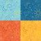 Stock Image : Four Weather Icon Pattern Tiles