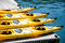 Stock Image : Four Yellow Kayaks