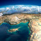 Stock Image : Fragments of the planet Earth. Cyprus, Syria and Turkey