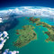 Stock Image : Fragments of the planet Earth. Ireland and UK