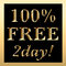 Stock Image : 100% FREE 2day Sign Gold