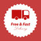 Stock Image : Free and fast delivery logo