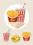 Stock Image : French fries and soda in paper cup