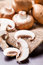 Stock Image : Fresh brown Agaricus mushrooms