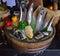 Stock Image : Fresh Fish arrangement for food presentation at a hotel buffet restaurant