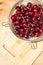 Stock Image : Fresh washed cherries